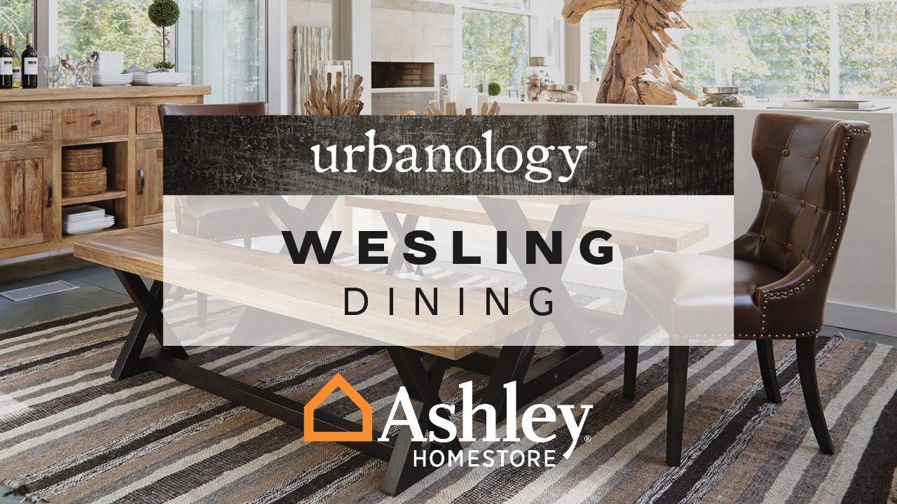 Ashley Home Wesling Dining Room, Wesling Dining Room Bench