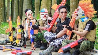 NERF WAR : Special Task SWAT Warriors Nerf Guns Fight Criminal Group Mask Shooter