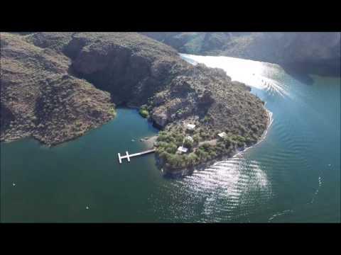 Canyon Lake Arizona by drone