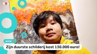Schilderijen van Chu (12) zijn duizenden euro's waard