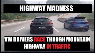 VW & Honda Race on Karak Highway Malaysia