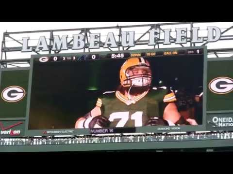Green Bay Packers Players Intro Video at Lambeau Field 10/19/2014