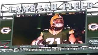 Lambeau Field, Game Players Intro Video .. Green Bay Packers 10/19/2014