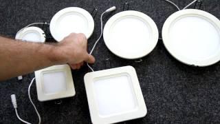 видео Ультратонкие светодиодные светильники: выбор и применение