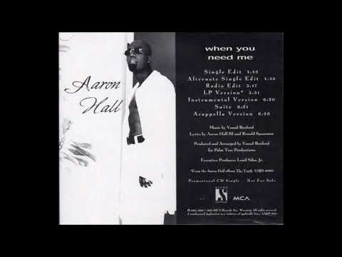 Slow Jam * Aaron Hall   When You Need Me  feat  Trina Powell