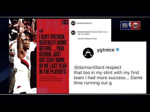 Inside The NBA Reacts To Damian Lillard, Paul George, Patrick Beverley Exchange On Instagram