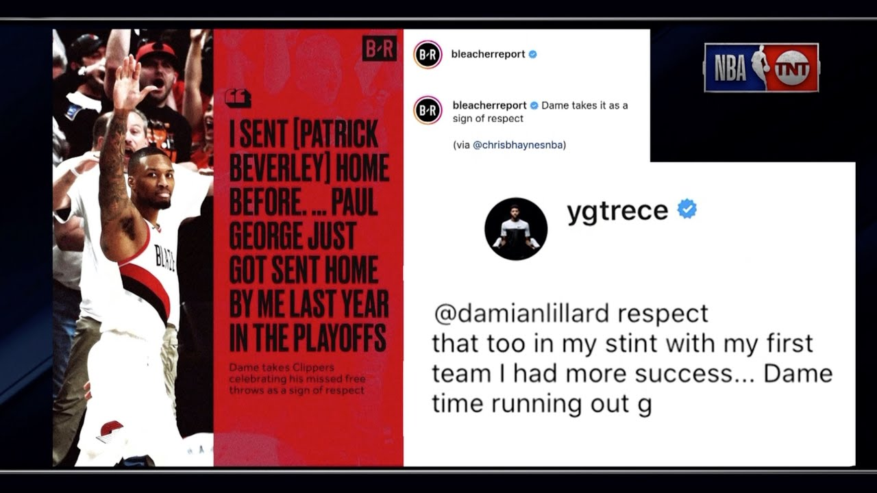 Inside The NBA Reacts To Damian Lillard, Paul George, Patrick Beverley  Exchange On Instagram - YouTube