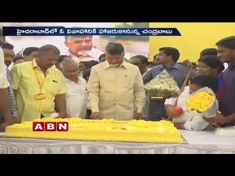 AP CM Chandrababu Naidu Birthday Celebrations at Undavalli | ABN Telugu
