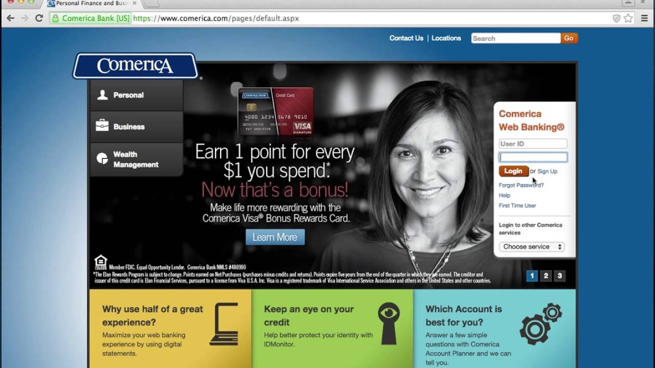 Comerica Bank Online Banking Login Instructions - YouTube