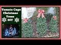 Tomato Cage🎄 Christmas Tree DIY🎄Outdoor Decorations