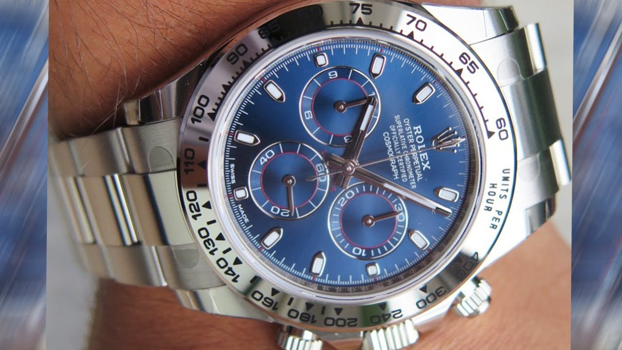 A Brand New Rolex Cosmograph Daytona 116509 Blue Dial 40 Mm White