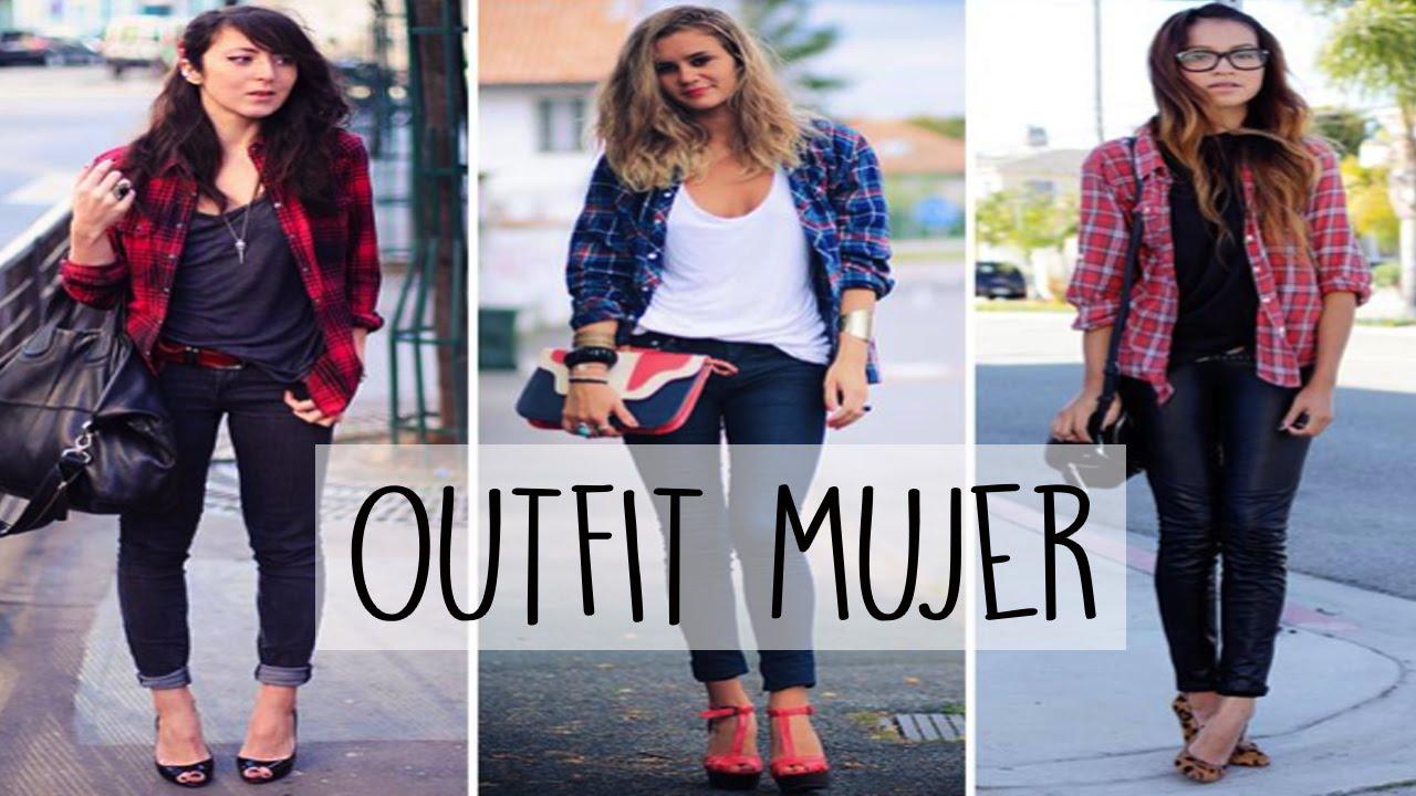 Blusa Para Combinarlas Outfit Camisa A Cuadros Youtube Mujer zvUHwqq7