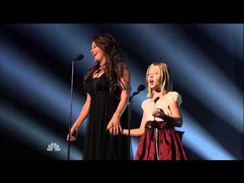 Jackie Evancho feat  Sarah Brightman   Time to Say Goodbye America's Got Talent FINALE