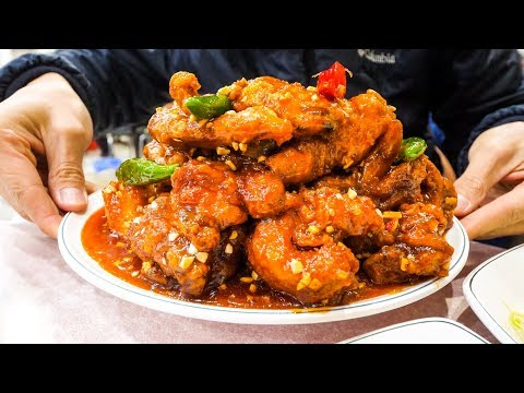 Korean Food Tour -  SHORT RIBS BBQ and Juicy FRIED CHICKEN on 14-Hour Incheon Airport Layover!