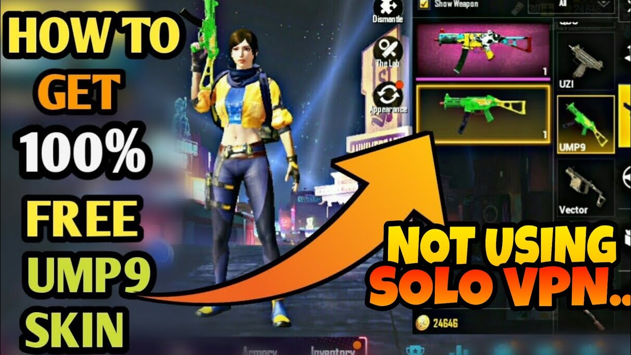 How To Get Free Ump9 Skin Solo Vpn Not Working Pubg Mobile - how to get free ump9 skin solo vpn not working pubg mobile