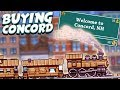 BUYING CONCORD! - Tiny Rails Gameplay Part 1 - Building and Managing a Train Empire