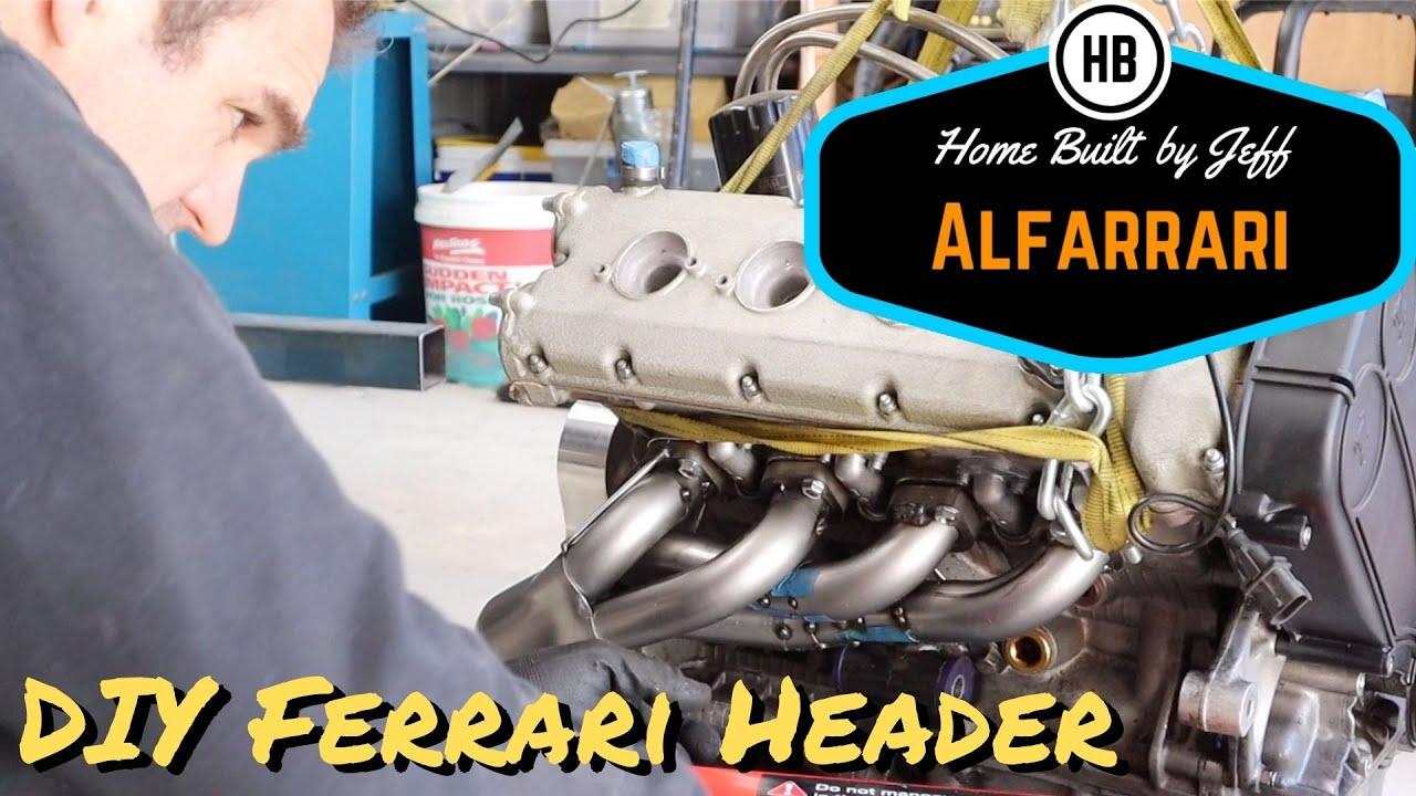 DIY Ferrari Headers - Ferrari engined Alfa 105 Alfarrari build part 50