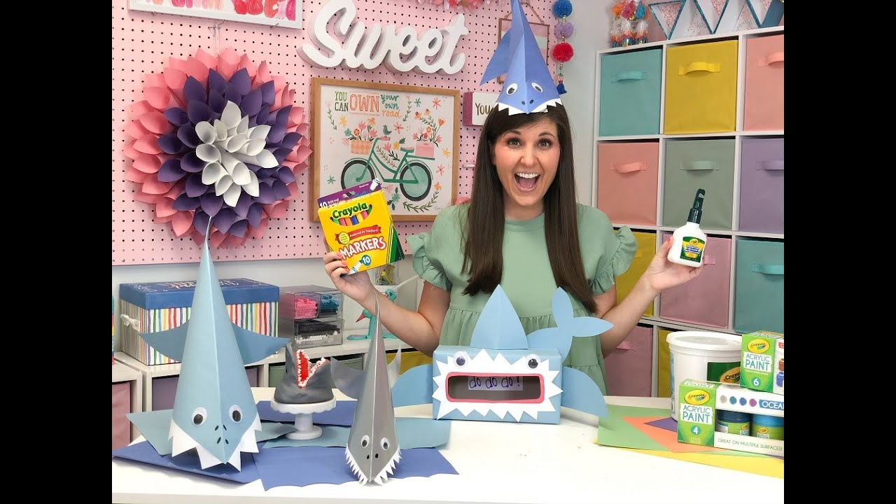 Easy Shark Craft Ideas|| Crayola & Craft Box Girls