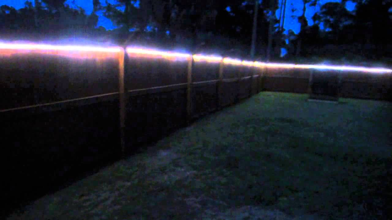 Backyard Fence Led Lights