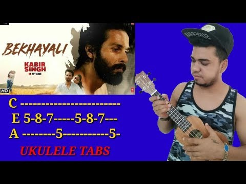 Kabir Singh | BEKHAYALI Ukulele Lead/Tabs Lesson | Easy For Beginners | By TAPAS MUSIC