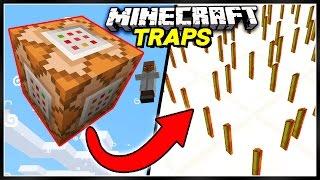 Commands + Traps = CRAZY MINECRAFT CREATIONS!