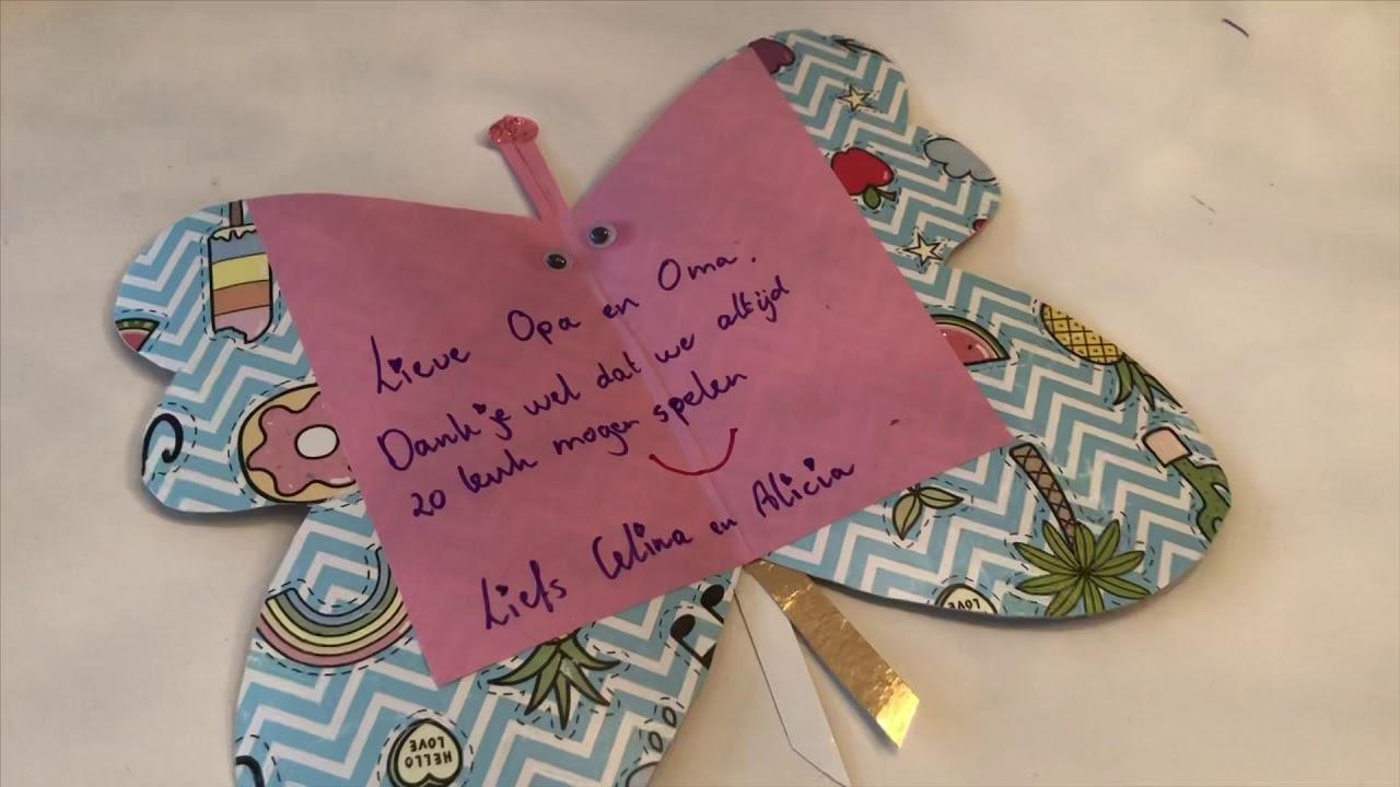 Ongekend DIY Kids Knutselen met Celina vlinderkaart voor opa en oma - YouTube CT-34
