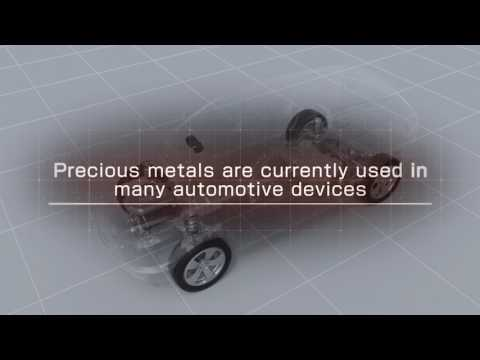 Automobiles rely on precious metal materials