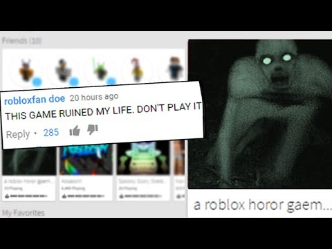 THIS ROBLOX HORROR GAME SHOULD BE DELETED