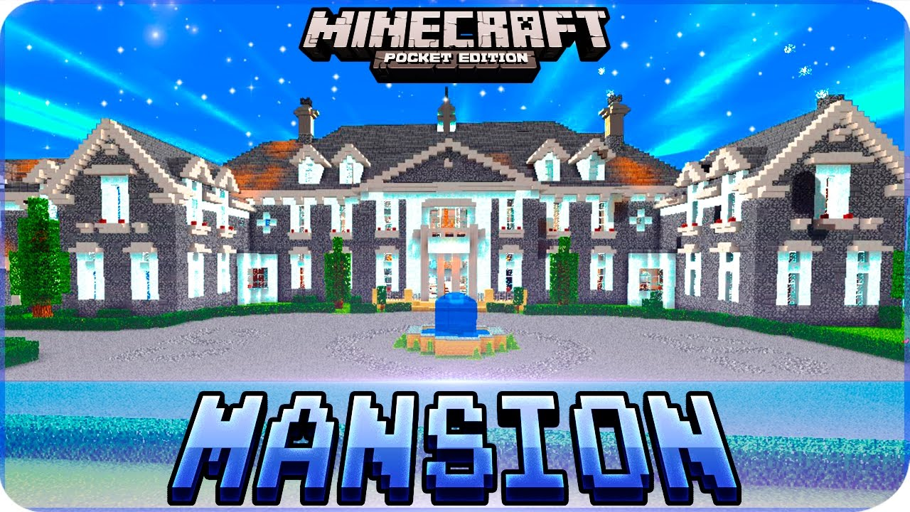 Minecraft PE Maps - Huge MANSION House Map with Download - iOS & Android  MCPE 1 0 4 / 1 0
