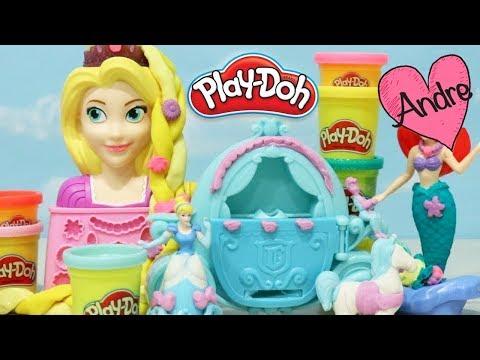 Juguetes de Play Doh de Rapunzel Ariel Cenicienta y My Little Pony - Novelas con muñecas y juguetes