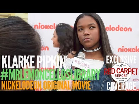 Klarke Pipkin  interview at Nickelodeon's Escape From Mr. Lemoncello's Library Movie Event