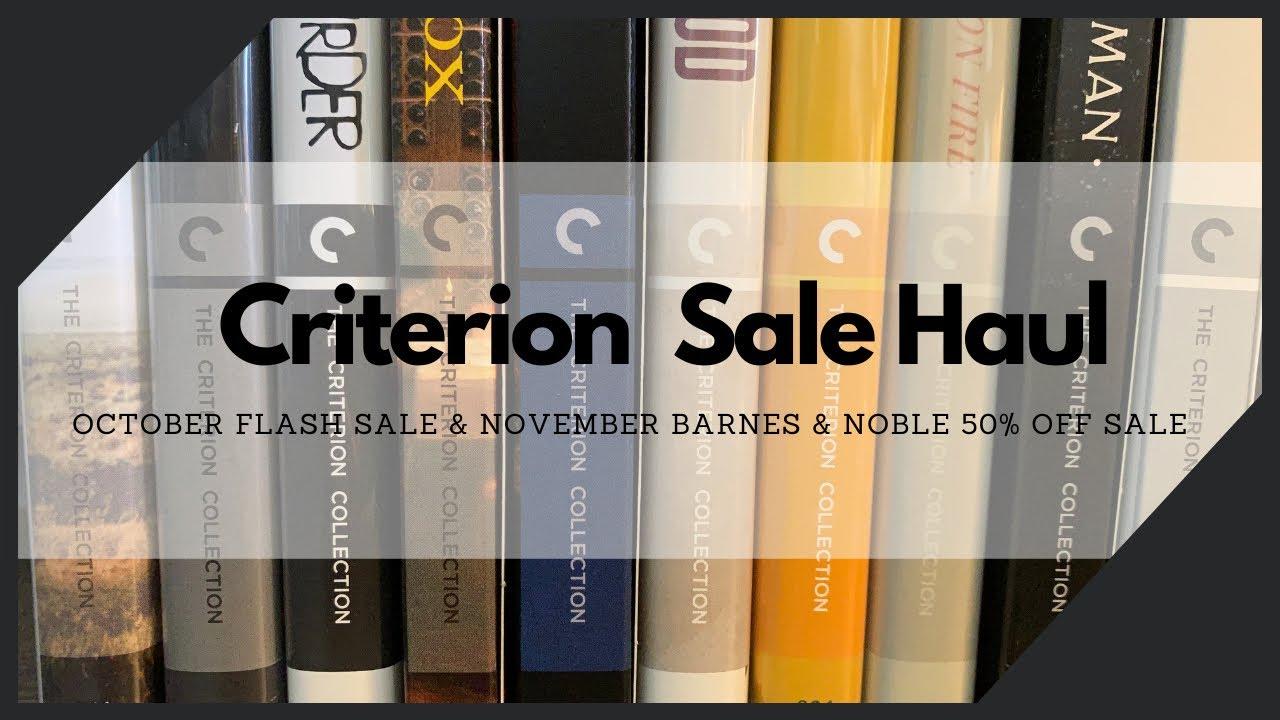 Download October Criterion flash sale & November Barnes & Noble 50% off Sale blu-ray pickups