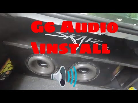 Pontiac G6 car audio install how to complete system