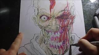 How To Draw A Walking Dead Walker Zombie