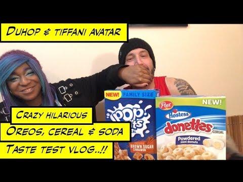 duhop Hilarious Oreo's PopTart Cereal and Gross soda taste test vlog