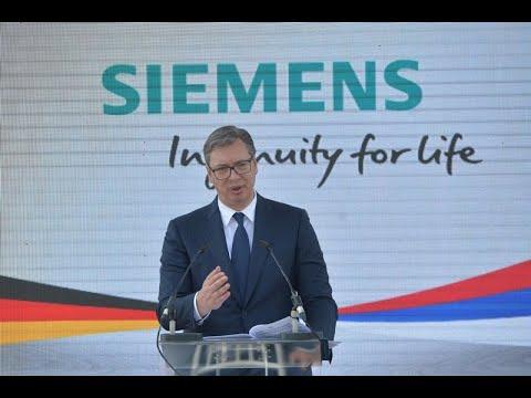 Вучић: Сименс жели да Крагујевац буде центар за производњу возова у Европи