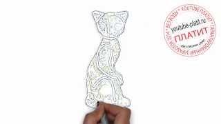 Нарисованные картинки кошек  Как красиво нарисовать статуэтку женщины кошки поэтапно карандашом за 2