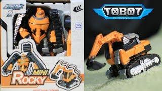 UNBOXING TOBOT MINI ROCKY - MAINAN ANAK MURAH TOBOT - EXCAVATOR TOBOT TRANSFORMERS - REVIEW KIDS TOY