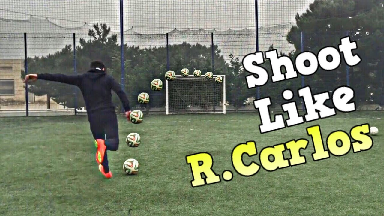 How to shoot like roberto carlos outside bend free kick tutorial.