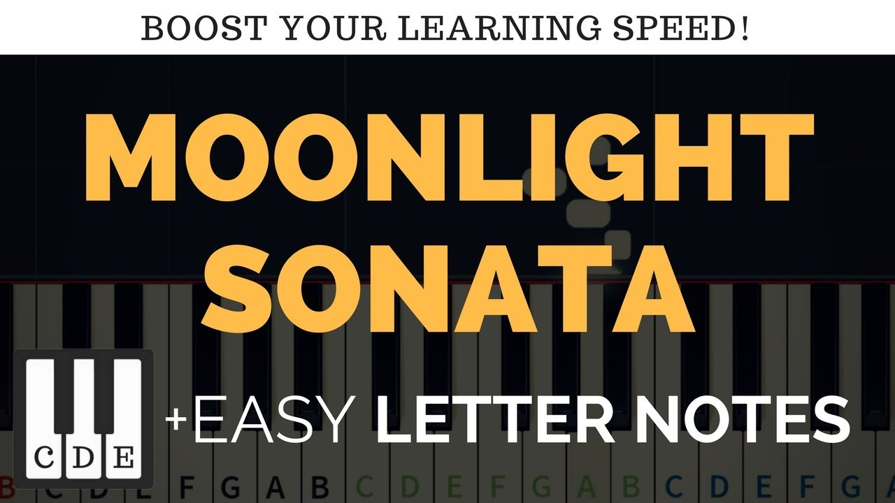 Moonlight Sonata Easy Letter Notes