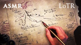 ASMR 1hr Lord of the Rings & The Hobbit | Dip Pen Drawing Thror's Map