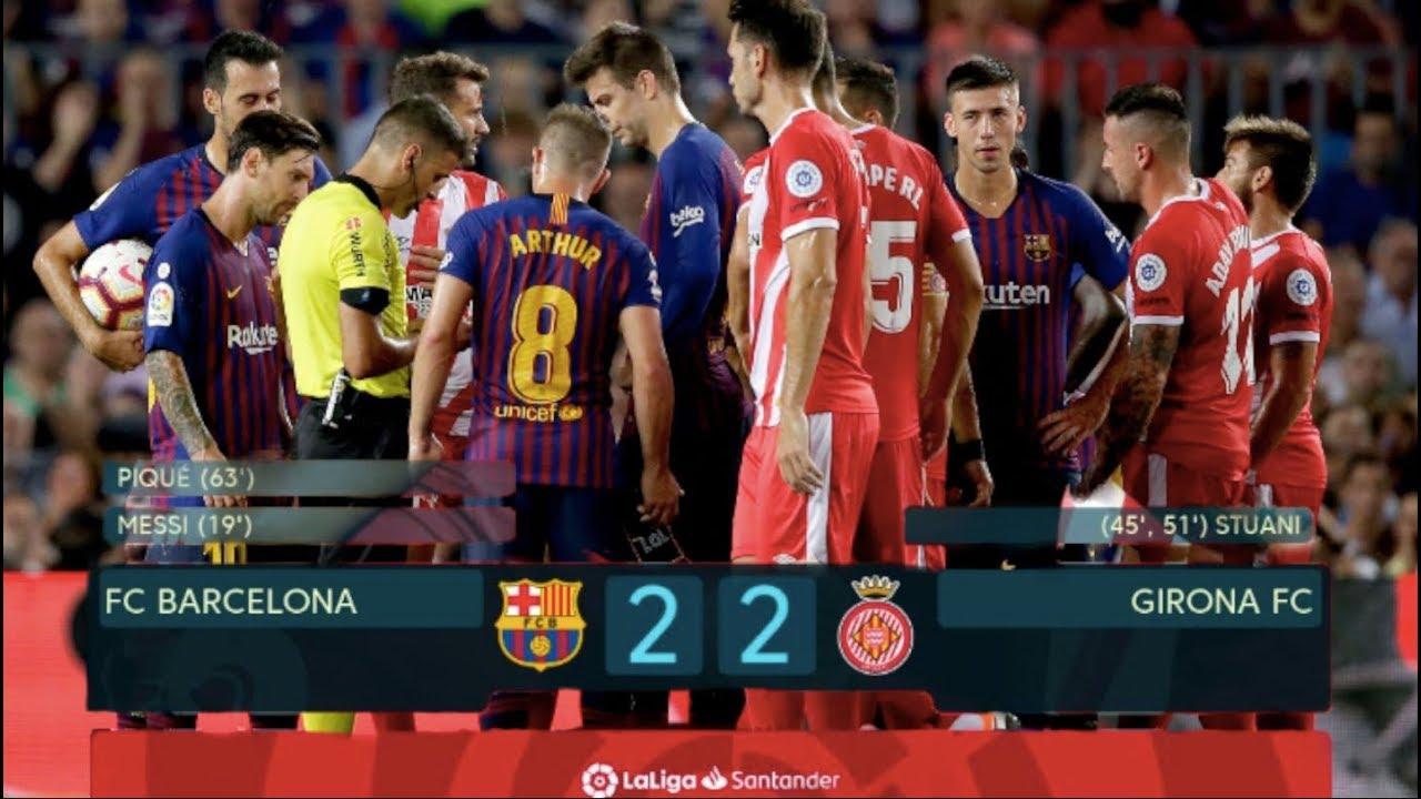 Barcelona Vs Girona 2 2 Match Review Youtube