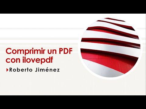 Comprimir un PDF con ilovepdf
