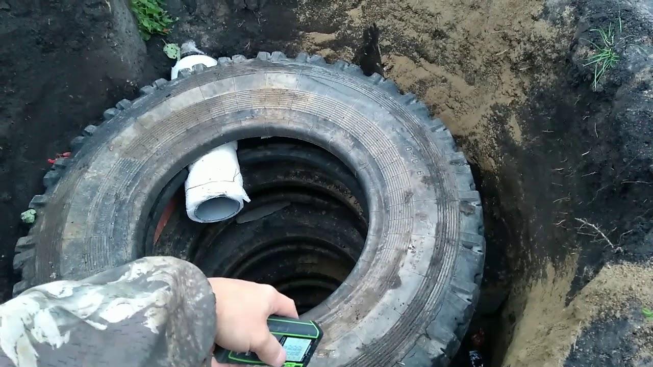 Сточная яма из покрышек своими руками фото 328