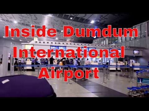 Inside Dumdum International Airport .