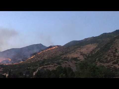 Water Tower fire Alpine, Utah fire 2017 (timelapse)