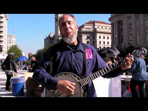 #OccupyDC - Banjer Dan - Banjo Activist Music - Justice Through Music Project