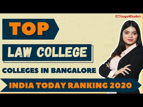 Top Law College in Bangalore by India Today Ranking 2020 ||