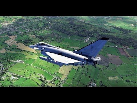 X Plane 11 - Eurofighter Typhoon (FREEWARE!) - YouTube