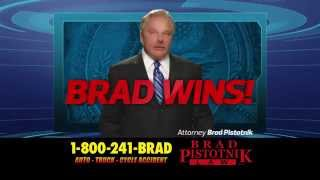 If you get hurt in a car accident call an experienced lawyer at 1-800-241-BRAD